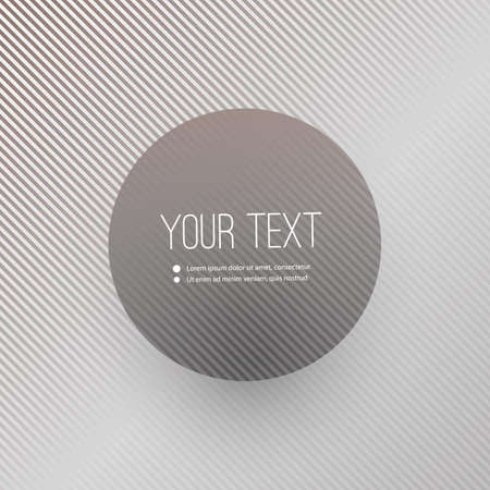 Abstract Striped Background with Minimal Round Text Box Design Vector
