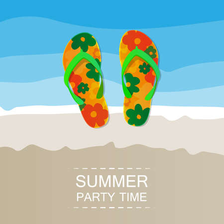 Abstract Summer Holiday Card or Cover Template - Vector Design Concept Vector