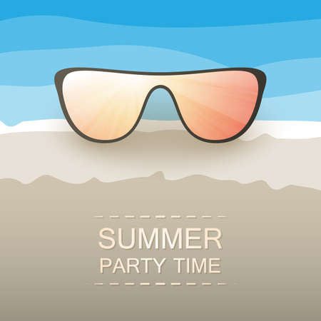 Abstract Summer Party Card or Cover Template - Vector Design Concept  Vector