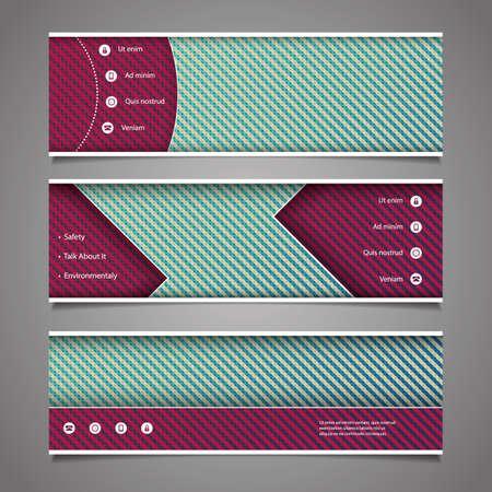 diagonal stripes: Website Design Elements - Header Designs with Abstract Pattern Illustration