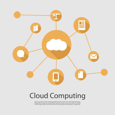 sync: Cloud Computing Concept Illustration
