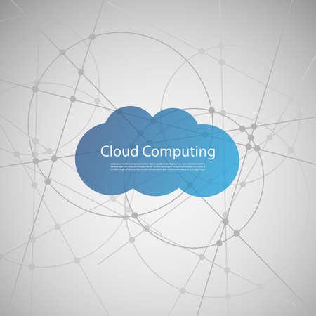 Cloud Computing Concept  イラスト・ベクター素材
