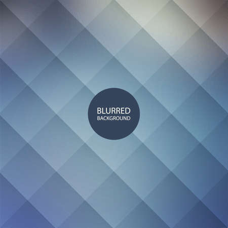 Abstract Blue Blurred Background Design with Squares Pattern Vector