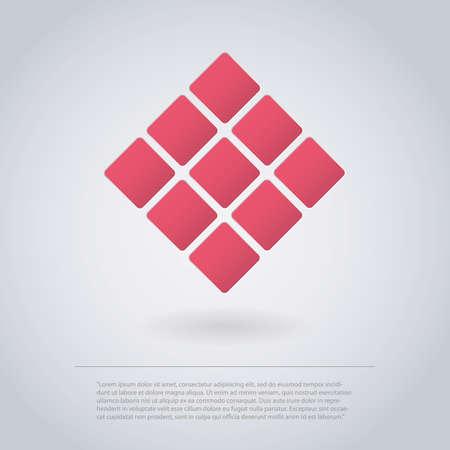 ui design: Icon Design Made of Squares for Infographics