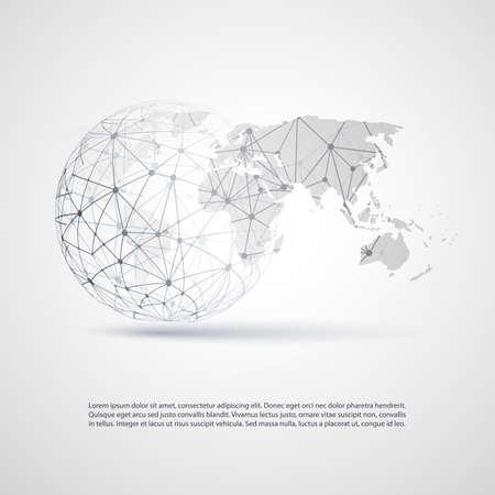 전세계에: 글로벌 네트워크 - 귀하의 비즈니스에 대한 EPS10 벡터