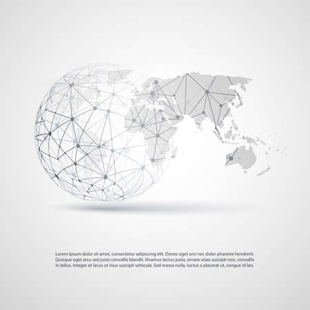computer networking: Global Networks - EPS10 Vector for Your Business Illustration
