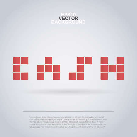 Cash - Mosaic Design Made of Squares Vector