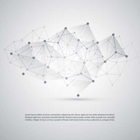 conectar: Conexiones - moleculares, Global Red de Negocios Diseño - Abstracto fondo del acoplamiento Vectores
