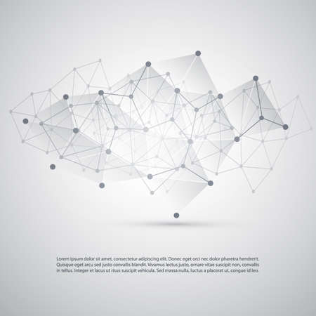 Connections - Molecular, Global Business Network Design - Abstract Mesh Background Ilustração