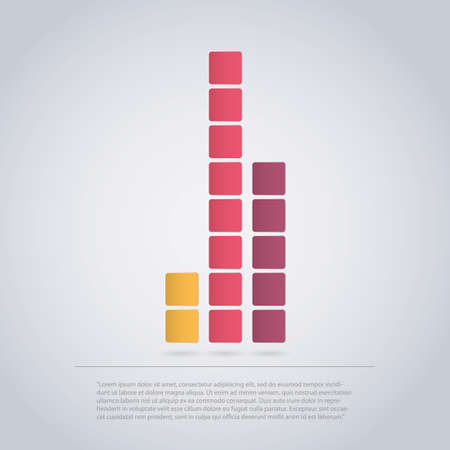 Diagram Icon Design Made of Squares for Infographics  Vector