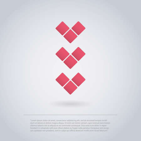 Icon Design Made of Squares for Infographics - Arrow Vector