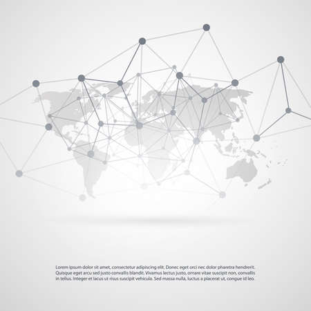 connected world: Global Networks -  Vector illustration  for Your Business