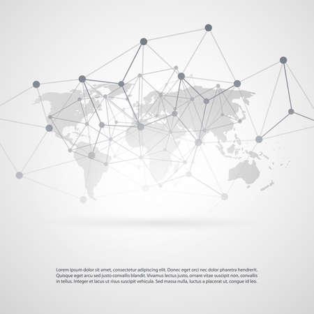 connect people: Reti globali - Illustrazione vettoriale per il tuo business