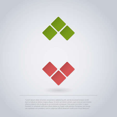 Icon Design Made of Squares for Infographics - Arrows Vector