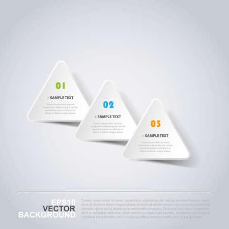 progress steps: Minimal Paper Cut Infographics Design - Triangles  Illustration