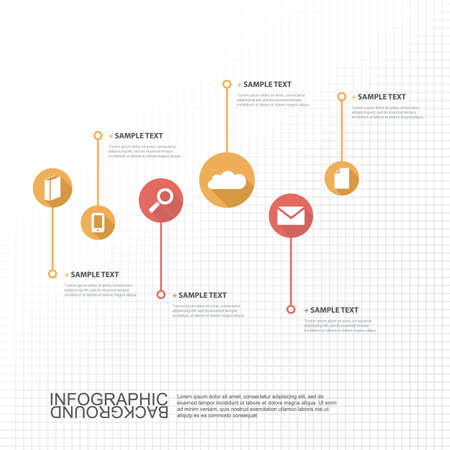 junction: Timeline Infographic Design with Your Text and Icons