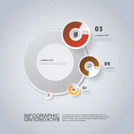 concentric: Circular Infographic Design with Pie Chart Illustration