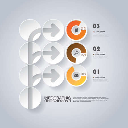 Circular Infographic Design with Pie Chart Vector