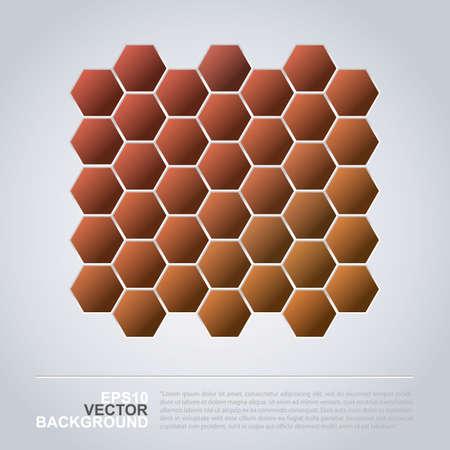 Hexagonal Pattern - Abstract Mosaic Background Design Vector