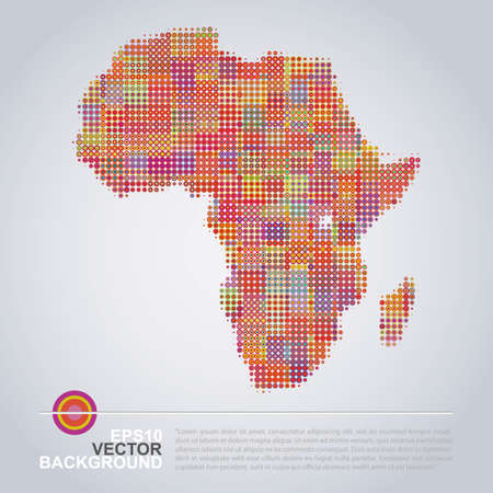 Dotted Map Design - Colorful Map of Africa Vector