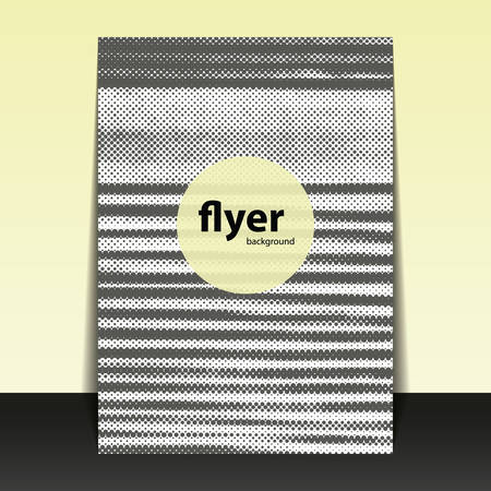 Flyer or Cover Design with Dotted Lines Pattern  Vector