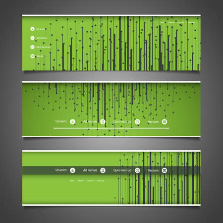 submenu: Web Design Elements - Header Design with Stars