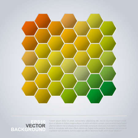 transient: Hexagons Pattern - Abstract Mosaic Background Design