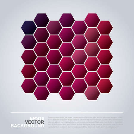 Hexagons Pattern - Abstract Mosaic Background Design  Vector