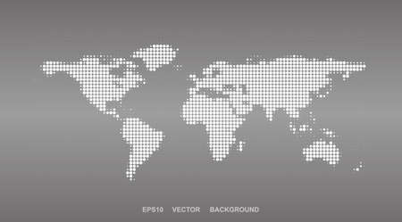Dotted Map Design - Halftone World Map