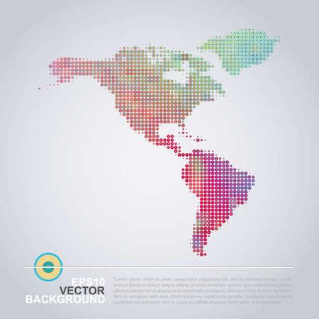 Pointillé Plan Design - Colorful carte de l'Amérique Banque d'images - 31060350