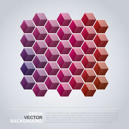 Colorful Cubes - Abstract Background Design Vector