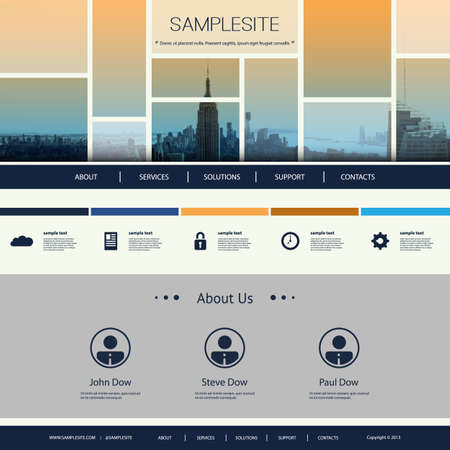original idea: Website Design for Your Business Illustration