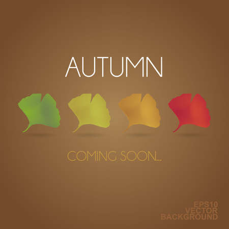 autumn scene: Autumn is Coming - Background with Leaves