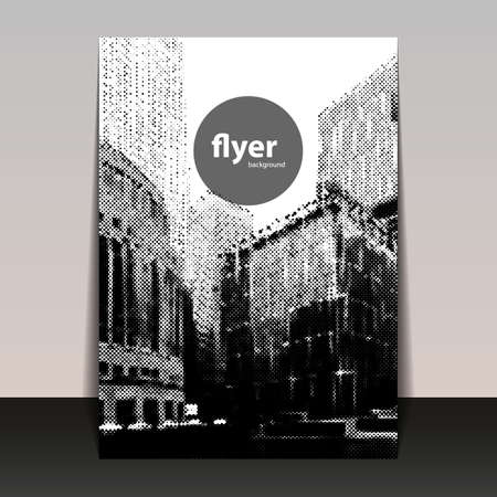 canary wharf: Flyer or Cover Design with Halftone Background - Canary Wharf London