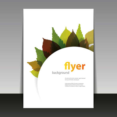 Flyer or Cover Design - Autumn Leaves  Vector