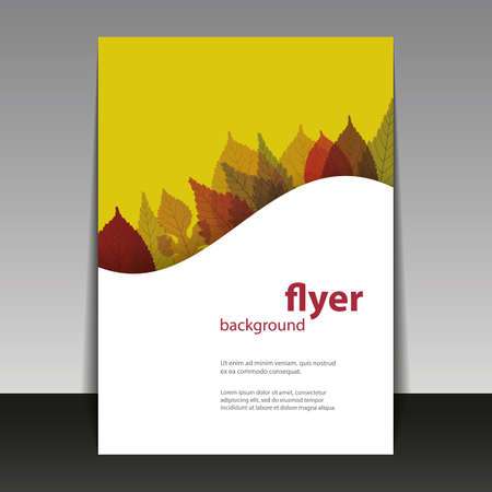 brown background: Flyer or Cover Design - Autumn Leaves