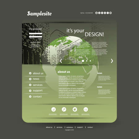 Website Template for Your Business Vector