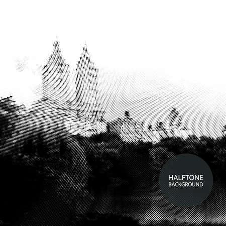 central park: Halftone Background Design - Central Park, New York