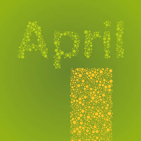 april clipart: Abstract Dotted Calendar Elements Design Template - Months, April