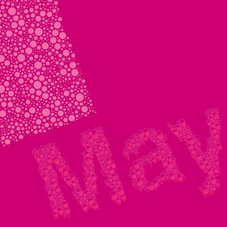 may calendar: Abstract Dotted Calendar Elements Design Template - Months, May  Illustration