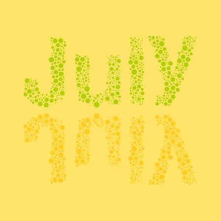 calendario julio: Calendario abstracto punteado Plantilla Elementos de diseño - Meses, julio