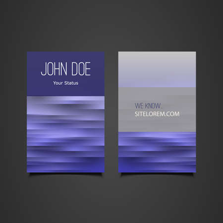painted the cover illustration: Business or Gift Card with Blue Striped Pattern