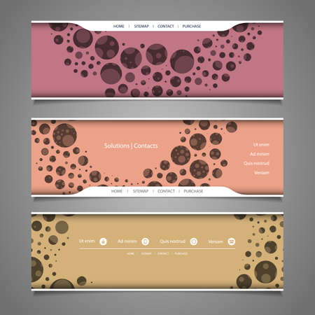 bubbly: Banner or Header Designs with Abstract Colorful Bubbly Pattern Illustration
