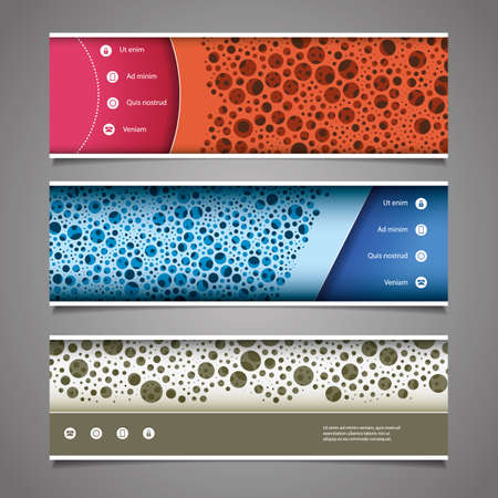 web element: Banner or Header Design with Abstract Colorful Dotted Pattern