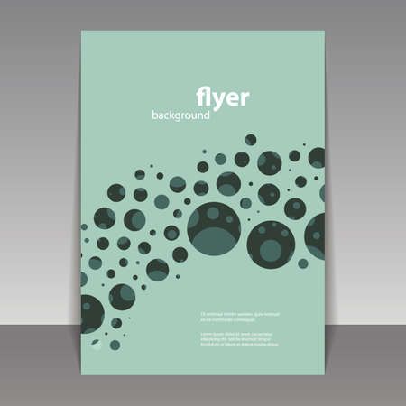 bubbly: Flyer or Cover Design with Abstract Bubbly Pattern Illustration