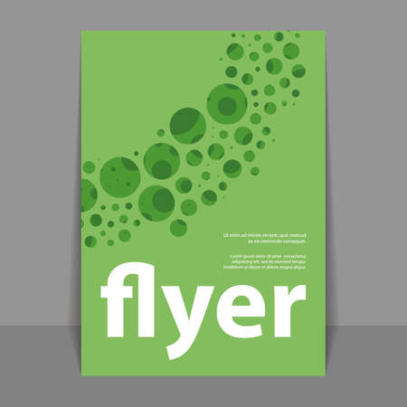 bubbly: Flyer or Cover Design with Green Bubbly Abstract Pattern