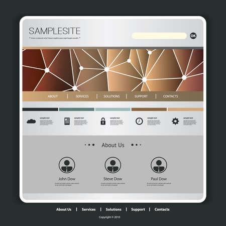 Website Template with Networks Header Design Vector