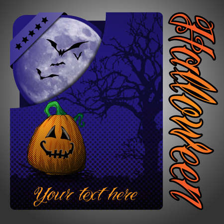 Halloween Folder Design Template Vector