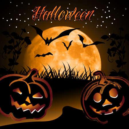 Halloween Background Design Template Vector