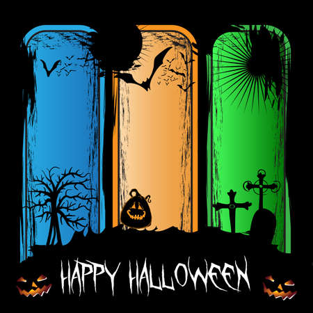 halloween concept: Happy Halloween Concept Illustration